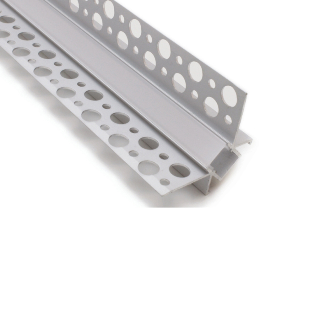 Internal Corner Recessed Plaster In Aluminium Profile Channel For 8mm LED Strip (2.5m)