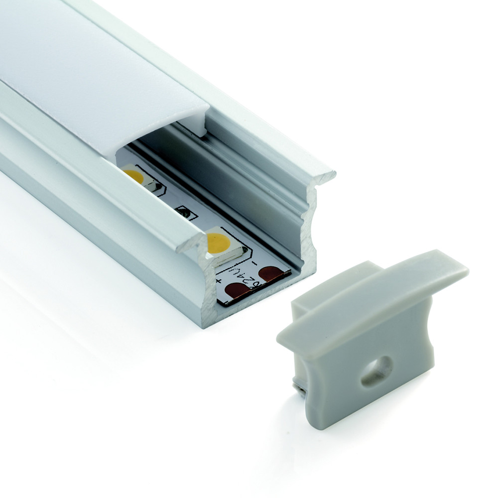 ALU09 Deep Recessed Aluminium Profile Channel For LED Strip (2m)